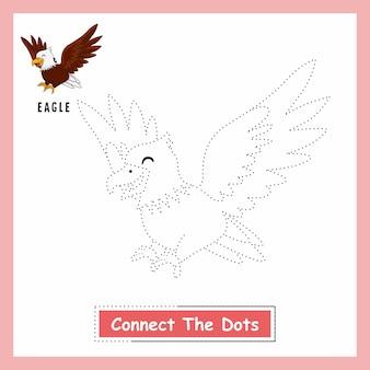 Eagle connect the dots arbeitsblatt