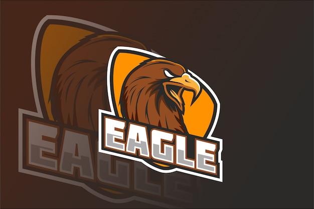 Eagle e sport maskottchen logo