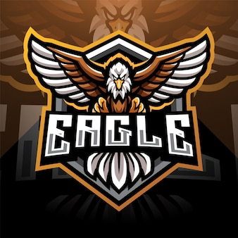 Eagle esport maskottchen logo design