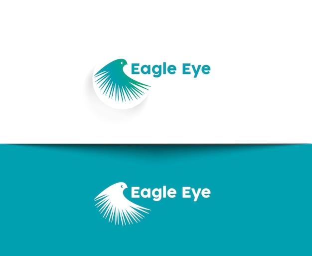 Eagle eye web-icons und vektor-logo