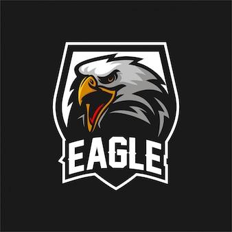 Eagle falke esport gaming maskottchen logo vorlage