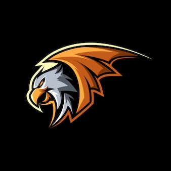Eagle hawk bird mascot illustration