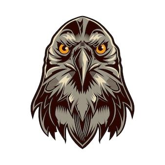 Eagle head logo vector isolated auf weißem hintergrund