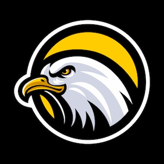 Eagle head maskottchen logo vektor