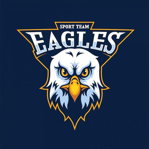 Eagle head maskottchen logo