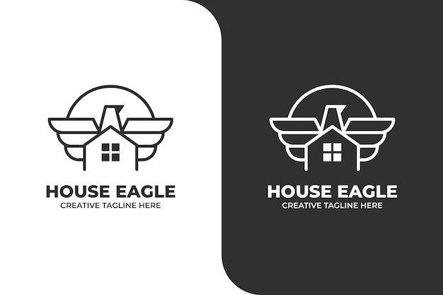 Eagle house monoline-logo-geschäft
