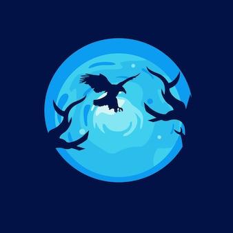 Eagle illustration logo design-vorlagen
