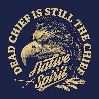 Eagle indian chief in zeichenstil