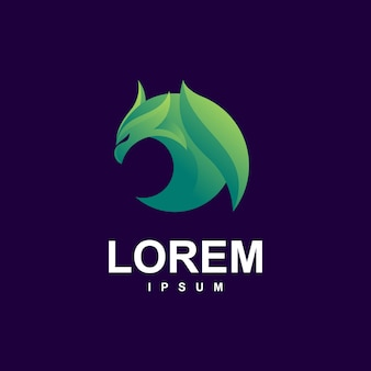 Eagle logo premium mit moderner grüner farbe