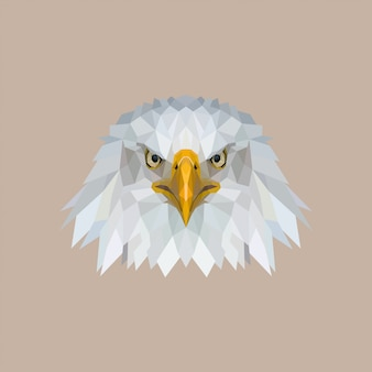 Eagle low poly art Premium Vektoren