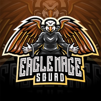 Eagle magic esport maskottchen logo