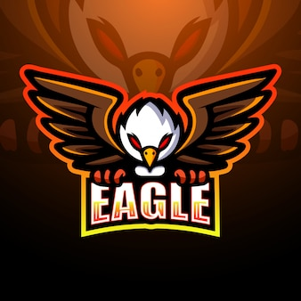 Eagle maskottchen esport logo illustration