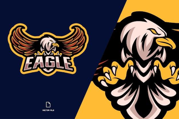 Eagle maskottchen esport logo illustration