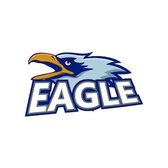 Eagle maskottchen logo beispielelement