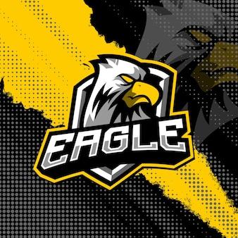 Eagle maskottchen logo design illustration