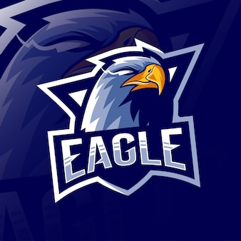 Eagle maskottchen logo esport design