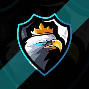 Eagle maskottchen logo esport design