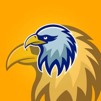 Eagle maskottchen sport element logo abbildung