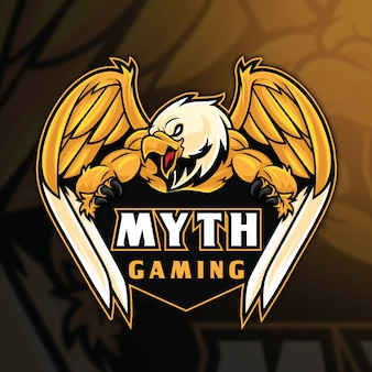 Eagle mythos esport logo vorlage