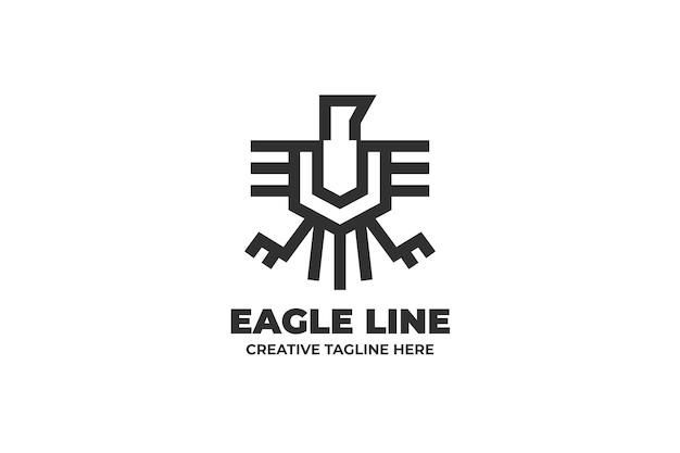 Eagle one-line-geschäftslogo