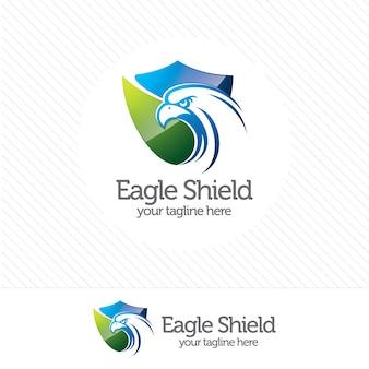 Eagle schild sicherheitszeichen
