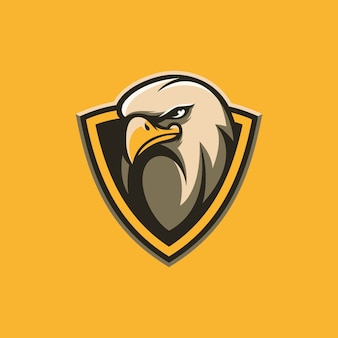 Eagle shield design illustration