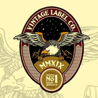 Eagle vintage abzeichen design