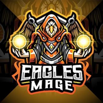 Eagles magier esport maskottchen logo