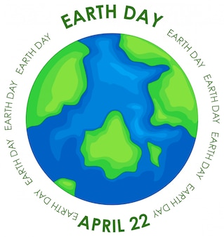 Earth day konzept poster