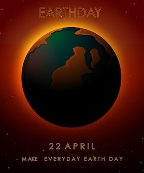 Earth day konzept poster