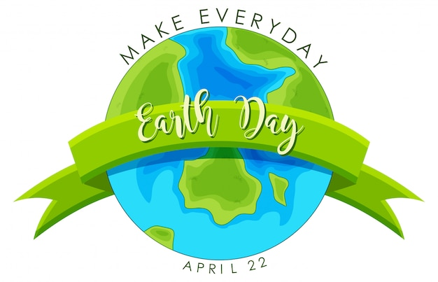 Earth day-konzept