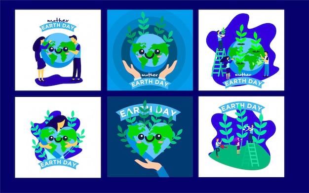 Earth day post-vorlagen