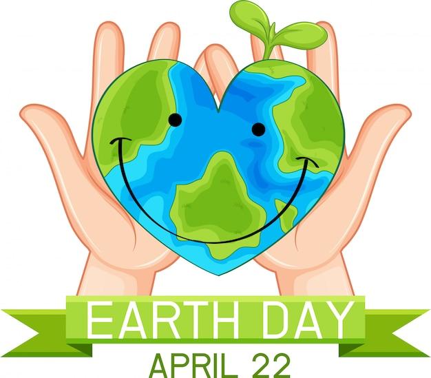 Earth day poster konzept
