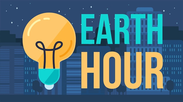 Earth hour banner