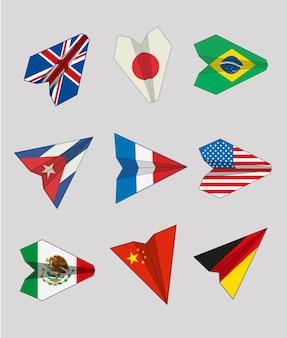 Ebenen von Flaggen