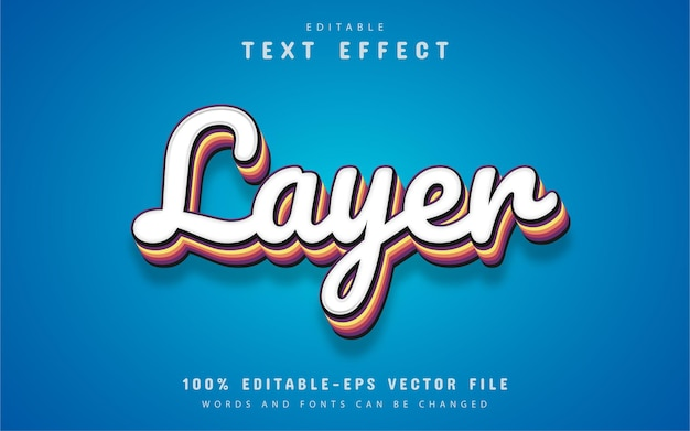 Ebenentext, bearbeitbarer 3d-texteffekt