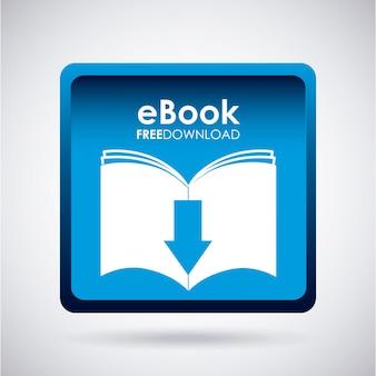 Ebook design über grauer hintergrundvektorillustration