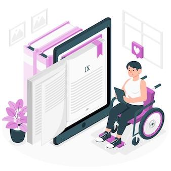 Ebook-konzeptillustration
