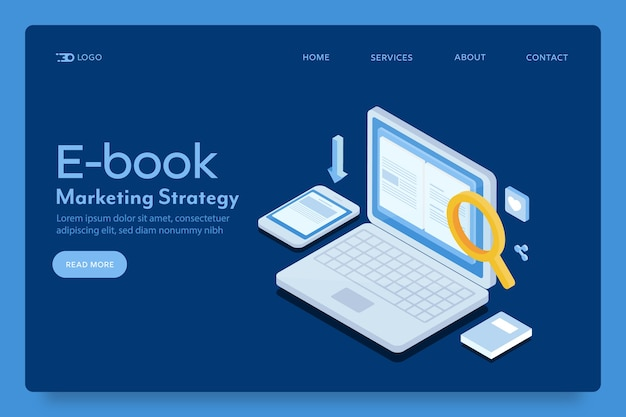 Ebook marketing landing page