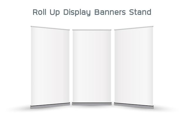 Echte 3d aufrollen display banner stand