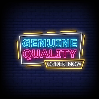 Echte qualität neon signs style text