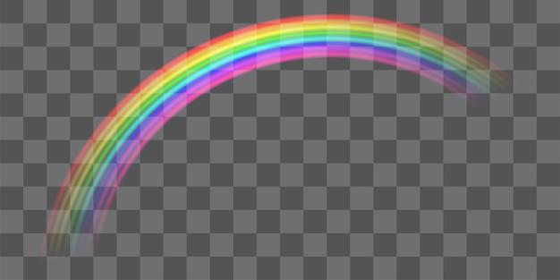 Echter bunter transparenter kurvenregenbogenvektor env