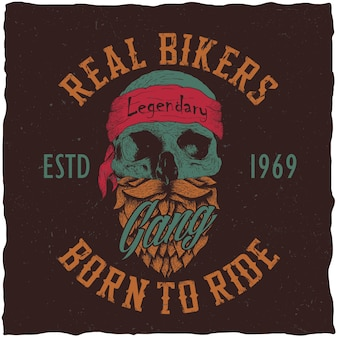 Echtes biker-plakat