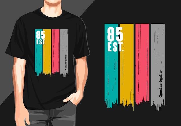 Echtes qualitäts-t-shirt design
