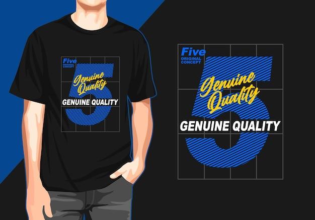Echtes qualitäts-t-shirt