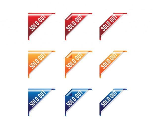 Ecke ausverkauft rotes band banner