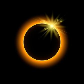 Eclipse mit sonnenstrahlen