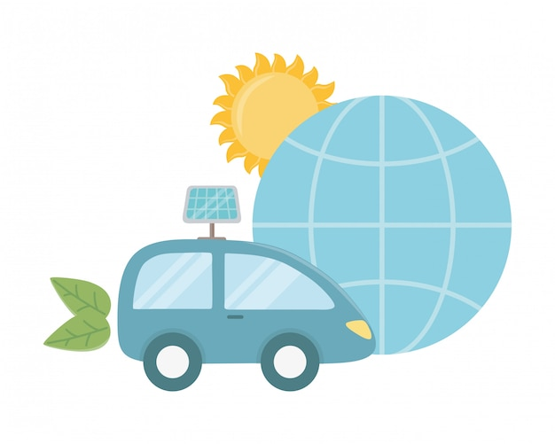Eco auto und retten planetendesign