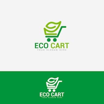 Eco cart logo-design-vektor-vorlage