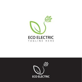 Eco electric logo-vorlagendesign